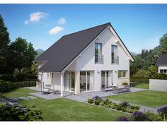 Innovation R - Haus R140_3_V05 - #Einfamilienhaus von RENSCH-HAUS GMBH | HausXXL #Fertighaus #Energiesparhaus #Nullenergiehaus #modern #Satteldach