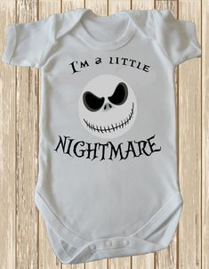I'm a little Nightmare- Before Jack Baby grow, Baby Romper High Quality Cotton…