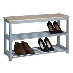 Buy John Lewis Croft Collection Shoe Rack, Blue, 3 Tier Online at johnlewis.com