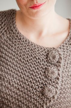 Brown Retro Cardigan by Afra