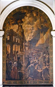 1. The Destruction of the Second Royal Exchange inn 1838 Great Fire Of London, The Great Fire, Tower Of London, London City, Frederick Leighton, Thanksgiving Service, Alfred The Great, Magna Carta, King John