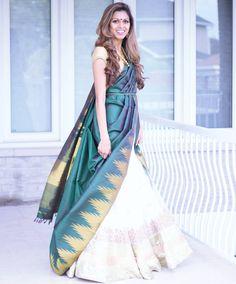 Lehanga Saree, Saree Dress, Anarkali Suits, Lehenga, Sari, Saree Draping Styles, Saree Styles, Drape Sarees, Ethnic Outfits