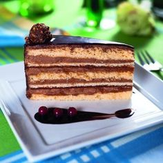 Congo Cake - this divine looking cake contains peanut butter, chocolate, chocolate and chocolate. Hungarian Cuisine, Hungarian Recipes, Hungarian Food, Cake Recipes, Dessert Recipes, Peanut Butter, Healthy Snacks, Food And Drink, Favorite Recipes