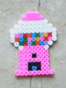 OMG. I remember these! I loved these melty beads. Bubblegum Machine hama perler beads