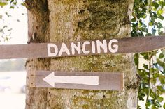 Rustic dancing sign
