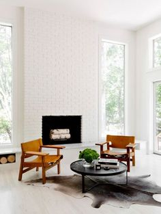 white brick fireplace living room cococozy tamaramellon More