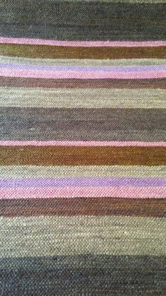 Striped mohair carpet with pinks