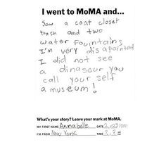 A little girl's thoughts on modern art....