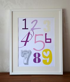 A perfect poster for the kids room;) Available in any colour combination;)