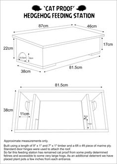 Cat proof hedgehog feeding station Hedgehog House Plans, Birdhouses, Woodworking Projects, Wildlife, Birds, How To Plan, Nature, Gardens, Rabbits