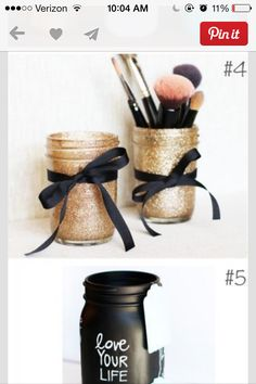 Decorating mason jars