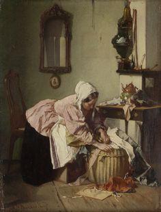 'De lappenmand' by Alexander Hugo Bakker Korff, c.1850-c.1882. Rijksmuseum, Public Domain