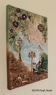 Diy canvas art 809803576730337710 - Ideas For Diy Art Wall Ideas Canvases Source by Mixed Media Artwork, Mixed Media Canvas, Altered Canvas, Altered Art, Diy Wall Art, Diy Art, Decoupage Art, Mural Art, Art Plastique