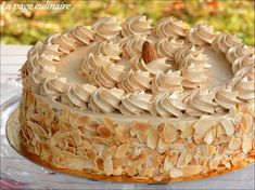 Moka au café - la page culinaire d'une passionnée - Best Pins Live Cafe Moka, Macarons, Cake Cafe, Desserts With Biscuits, Dacquoise, Icebox Cake, Cake Board, Almond Cakes, Cake Decorating Tips