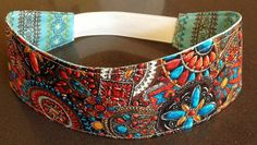 Western Charm Brown and Turquoise  Headband by SandersonTextiles, $5.00