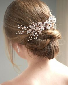 Camille Floral Back Comb Bridal hair accessories Bridal hair comb headband Hair jewelry Prom Hairstyles, High Bun Hairstyles, Trending Hairstyles, Headband Hairstyles, Hairstyle Ideas, Updo Cabello Natural, Natural Hair Updo, Natural Hair Styles, Short Pixie Haircuts