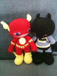 Amigurumis Flash y Batman, Chofisgurumis tejido a gancho, hecho a mano, hecho en México, Tonanitla.