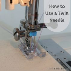 How to use a twin needle video tutorial square