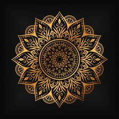 Luxury mandala background with golden arabesque pattern arabic islamic east style Vector Mandala Design, Mandala Pattern, Pattern Art, Vector Pattern, Free Pattern, Mandala Art Lesson, Mandala Artwork, Mandala Drawing, Islamic Art Pattern