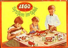 LEGO System in Spiel doosje uit Duitsland ca. 1956-1957