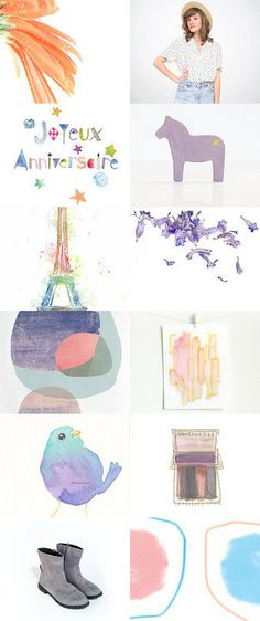Thanks to Florence for featuring my Joyeux Anniversaire card :) Too Pretty  by Florence Smith on Etsy