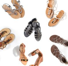 Pair sandals with your favorite jeans for a cute and simple summer look. Stop by thredUP and purchase a pair from your favorite designer!