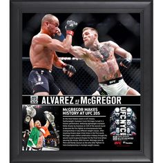 "Conor McGregor Ultimate Fighting Championship Fanatics Authentic Framed 15"" x 17"" UFC 205 And New Lightweight Champion Collage - $47.99"