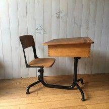 Bureau et son fauteuil blancs chic et rtro desk bureau