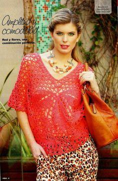 Original and elegant crocheted poncho.