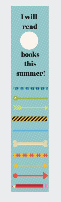 Free Printable Summe -- summer reading idea for library