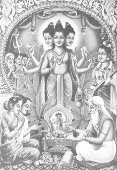 Trimurti or Trinity or Brahma Vishnu Shiva The Hindu Trimurti is a Sanskrit word also called as Trinity-three forms an English word. Gouache Painting, Painting Edges, Indiana, Tarot, Shiva Tandav, Indian Saints, Hindu Deities, Hinduism, Shiva Lord Wallpapers