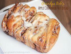 Grandpa Bob's Apple Cinnamon Nut Bread shared at katherines corner