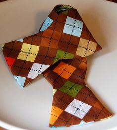 Brown Argyle Bow Tie by FourEyesHandmade on Etsy, $26.00