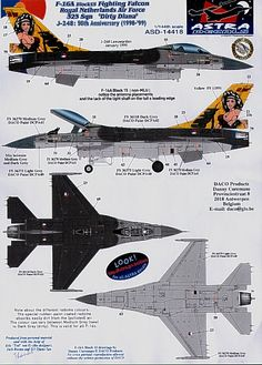F-16A Fighting Falcon Royal Netherlands Air Force F 16, 50th Anniversary, Netherlands, Air Force, Fighter Jets, Aircraft, Horned Owl, War, Cutaway