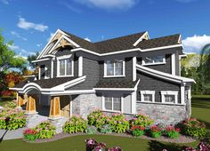 2 Story Craftsman with 4 Bedrooms - 89993AH | Craftsman, Traditional, 1st Floor Master Suite, CAD Available, PDF | Architectural Designs