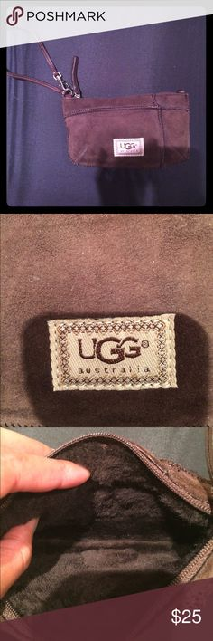 Brown uggs wristlet 😍😍 Omg so cute chocolate color uggs wristlets your fav 😍😍😍😍new wear one time 😍😍😍 UGG Bags Clutches & Wristlets