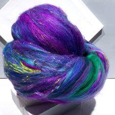"Fluff Batt called ""Delphinium"" from Wildethyme Art and the Phat Fiber Sampler Box. Giveaway at phatfiber.blogspot.com"