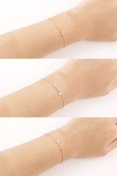 ^Gold/ Silver/ Pinkgold Arrow Bracelet by bkandjio on Etsy