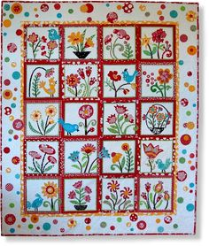 My Whimsical Garden Block of the Month  I own pattern.