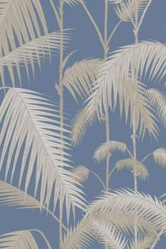 Nature In The Home | Rockett St George Classic Wallpaper, Original Wallpaper, Palm Leaf Wallpaper, Wallpaper Backgrounds, Wallpaper Ideas, Wallpapers Texture, Cole And Son Wallpaper, Rockett St George, Beach Bathrooms