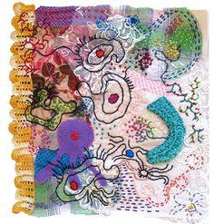 Textile Art , Mixed Media Textile Art, with thanks to Textile artist Rachel Blythe Udell, Artist Study Resources for Art Students , CAPI ::: Create Art Portfolio Ideas at milliande.com , Art School Portfolio Works, Textiles, Fibre, Art, Sewing, Stitching