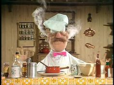 Via I'm a huge fan of the Muppets. And the Swedish chef takes the cake (well, actually, he would probably blow it up). Funny Quotes, Funny Memes, Jokes, Haha Funny, Funny Shit, Funny Stuff, Nerd Stuff, Funny Things, Transférer Des Photos