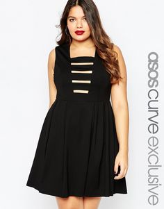 Shop the latest ASOS CURVE Premium Skater Dress with Ladder Cut Out trends with ASOS! Plus Size Skater Dress, Cut Out Skater Dress, Plus Size Black Dresses, Cutout Dress, Plus Size Dresses, Plus Size Outfits, Tall Dresses, Plus Size Clothing Sale, Fashionable Plus Size Clothing
