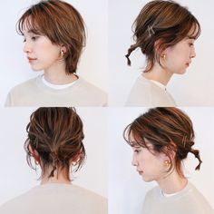 Kawaii Hairstyles, Down Hairstyles, Hair Inspo, Hair Inspiration, Pretty Short Hair, Beauty Makeup, Hair Beauty, Hair Arrange, Hair Shows