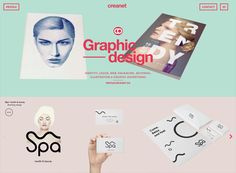 One-page website: creanet