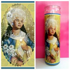 Saint Etta prayer candle by KitschupCreations on Etsy, $13.00