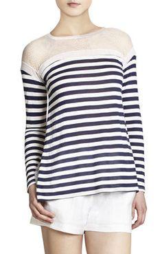 Lexi Lace Crew Neck Top With High-Low Hem   BCBG Bcbg Dresses, Fashion Company, Dresses With Sleeves, Sleeve Dresses, Dress To Impress, Fashion Art, High Low, Crew Neck, Lace