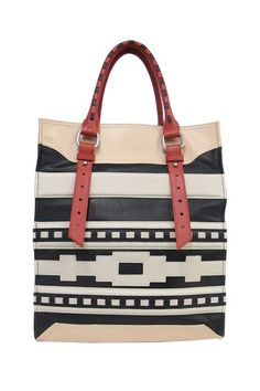 Isabella Fiore French Totem Stella Tote// @SarahBeth White looks like YOU