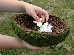 This nest flower girl basket is perfect for small hands and would look so sweet at a garden or outdoor wedding. Wiccan Wedding, Viking Wedding, Renaissance Wedding, Irish Wedding, Celtic Wedding, Summer Wedding, Our Wedding, Dream Wedding, Wedding Ideas