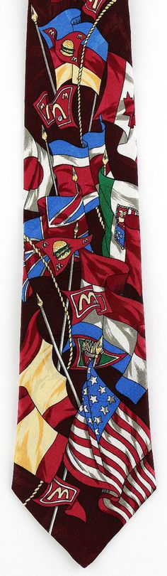 New McDonalds Restaurant Mens Necktie Burger Food International Flags Neck Tie #McDonalds #NeckTie